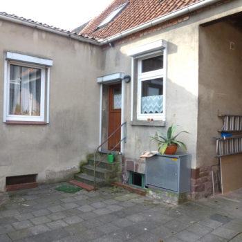Terrasse vorher – Walsrode