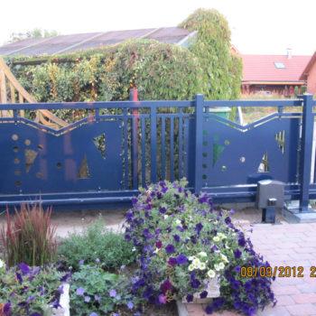 Design-Schiebetor mit passender Pforte und Gartentür