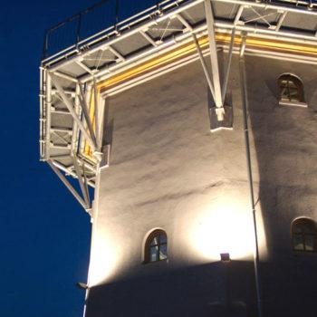 Galerie als Aussichtsplattform in 12 m Höhe