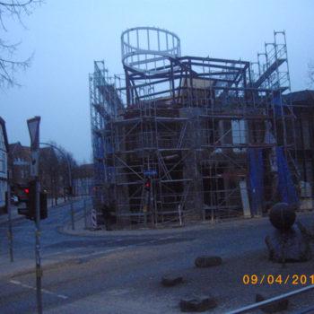 Stahltragwerk für die Neugestaltung der Fassade