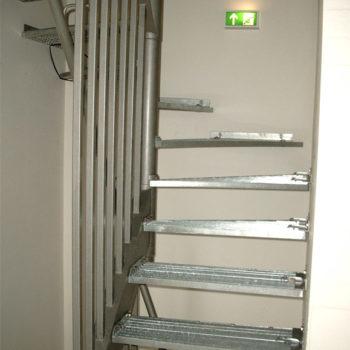 platzsparende Treppenanlage