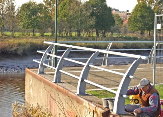 Geländer an der Geste in Bremerhaven