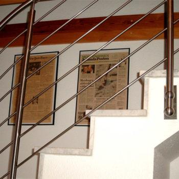 Treppengeländer, halbgewendelt